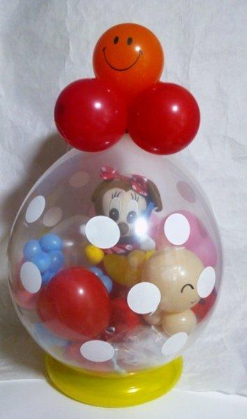 画像1: 出産祝いおむつケーキおむつキャンディードット柄 (1)