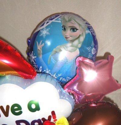 画像2: 誕生日 おめでとう!アナと雪の女王バルーンアレンジ