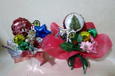 画像1: ミニサイズの可愛いクリスマスバルーン【送料無料】