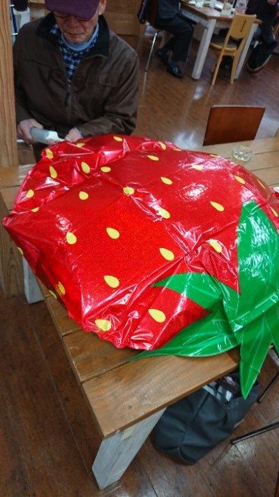 画像1: 大きなイチゴバルーン ギフトイベントに最適